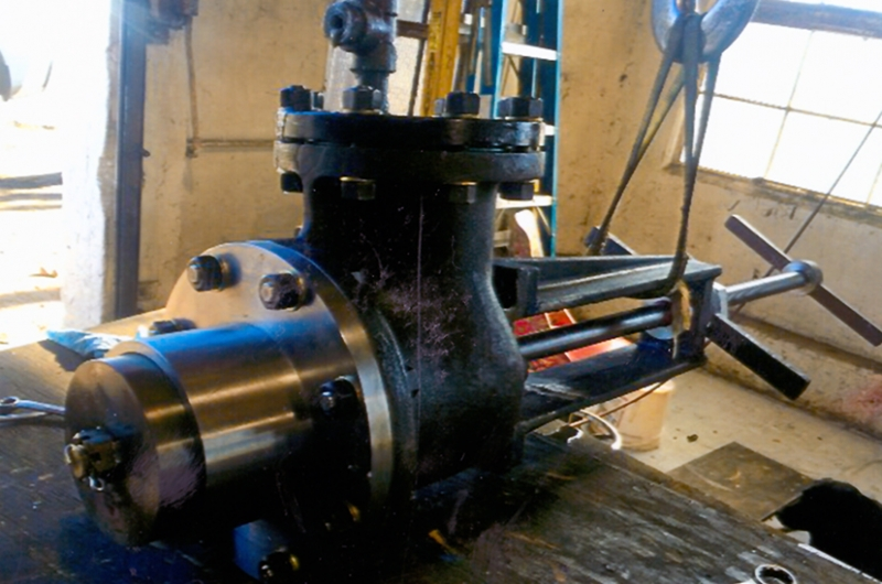 Complete fabricated valve assembly.